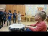 Детский оркестр. Чайковский Марш деревянных солдатиков. Ударные - Лена